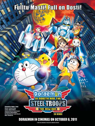 Download Film Doraemon: Nobita and the New Steel Troops: Angel Wings (2011) BRRip