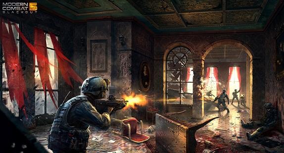 Download Game Modern Combat 5: Blackout v1.0.1c APK + OBB Data Android