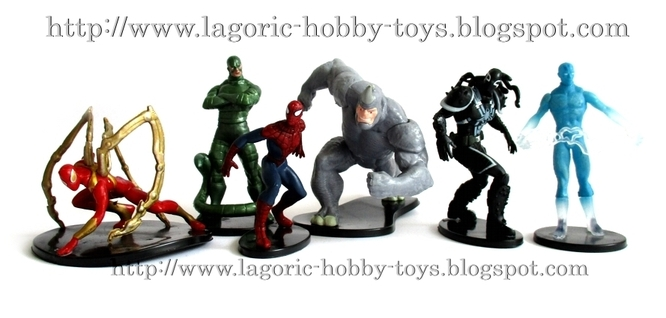 Spiderman Agents Statue 6in1 Set