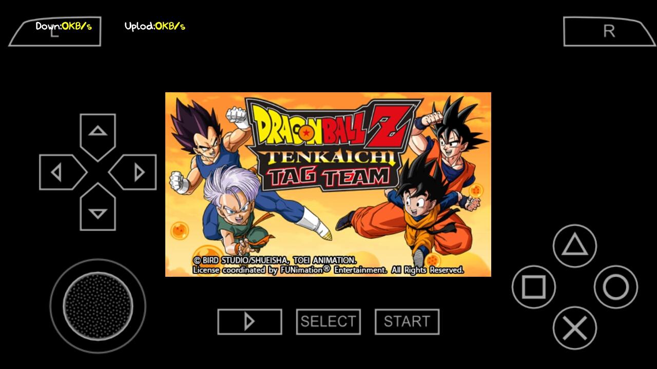 Download Game Dragon Ball Z: Tenkaichi Tag Team ISO PSP